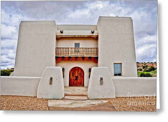 Greeting Card featuring the photograph New Mexican Hideaway by Gina Savage