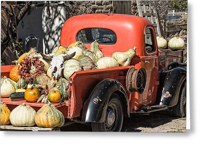 New Mexico Fall Harvest Truck Greeting Card