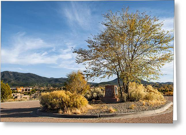 New Mexico Landscape Greeting Card by Alida Thorpe