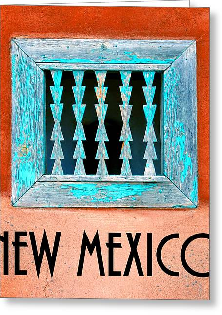 New Mexico Pueblo Window Work A Greeting Card by David Lee Thompson