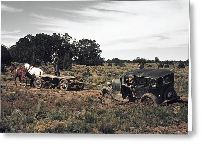 New Mexico Roads, 1940 Greeting Card