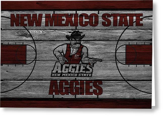 New Mexico State Aggies Greeting Card by Joe Hamilton