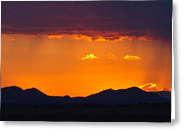 Greeting Card featuring the photograph New Mexico Sunset by Atom Crawford
