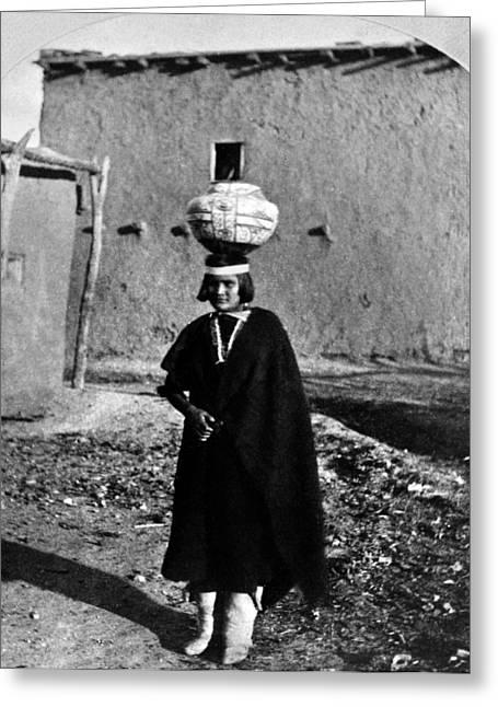 New Mexico Zuni Girl, 1873 Greeting Card