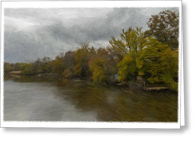 New Milford By Water Side Greeting Card