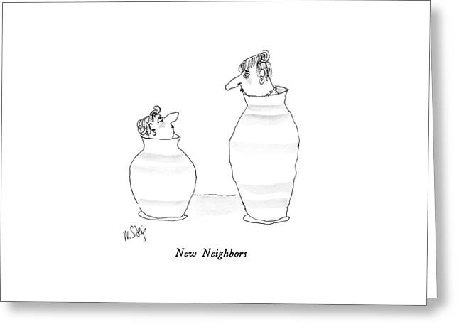 New Neighbors Greeting Card by William Steig
