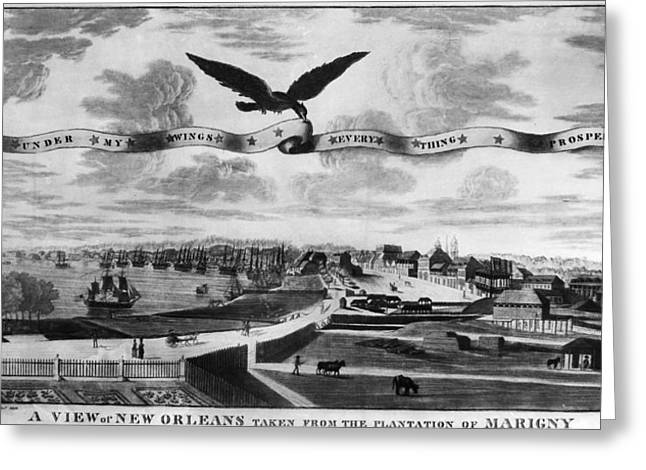 New Orleans, 1803 Greeting Card by Granger
