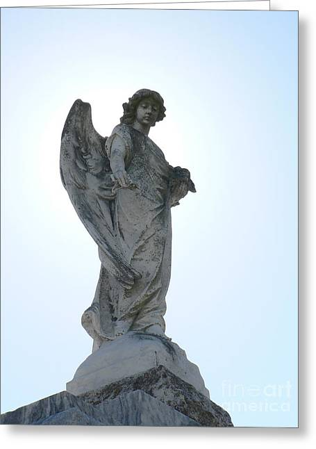Greeting Card featuring the photograph New Orleans Angel 2 by Elizabeth Fontaine-Barr