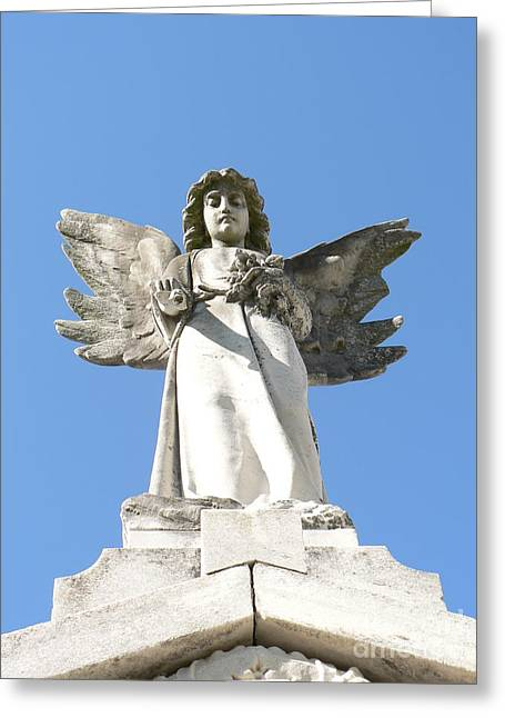New Orleans Angel 5 Greeting Card by Elizabeth Fontaine-Barr