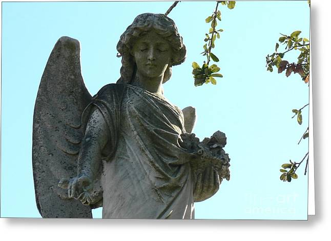Greeting Card featuring the photograph New Orleans Angel 8 by Elizabeth Fontaine-Barr