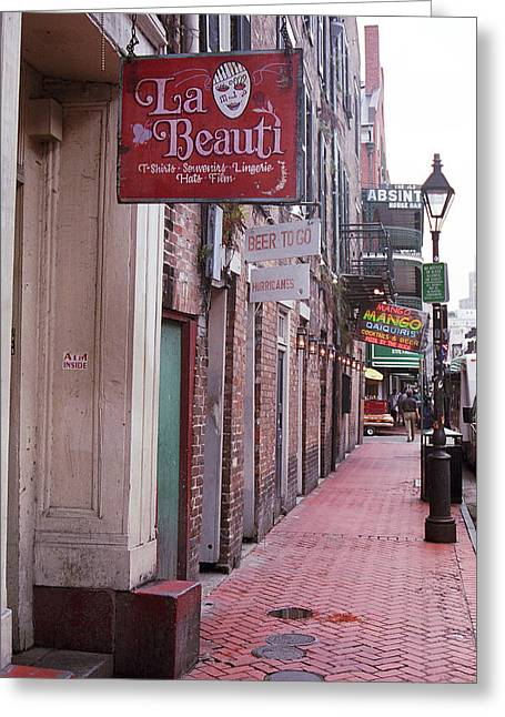 New Orleans - Bourbon Street 3 Greeting Card by Frank Romeo