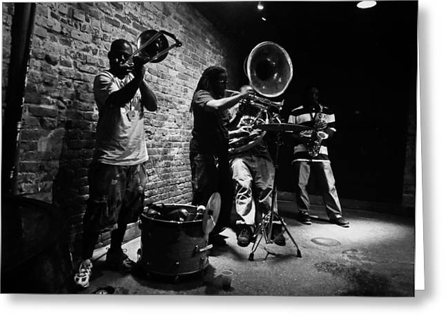 New Orleans Brass Band Greeting Card