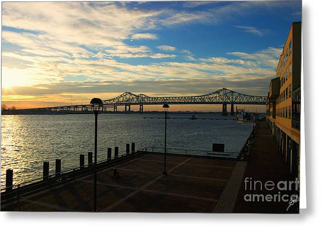 Greeting Card featuring the photograph New Orleans Bridge by Erika Weber