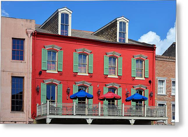 New Orleans Bubba Gump Shrimp Co Greeting Card by Christine Till