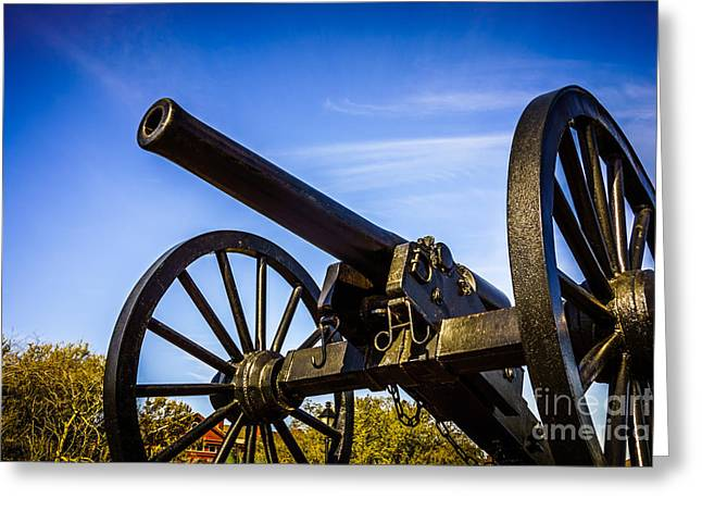 New Orleans Cannon At Washington Artillery Park Greeting Card by Paul Velgos