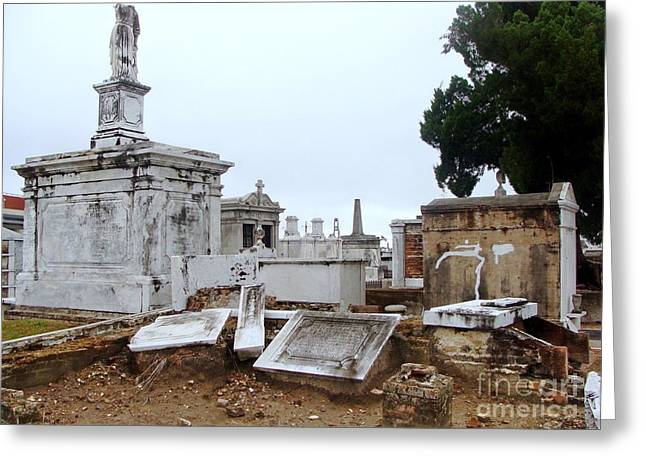 New Orleans Cemetary Greeting Card by Ed Weidman