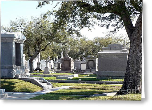 New Orleans Cemetery 2 Greeting Card by Elizabeth Fontaine-Barr