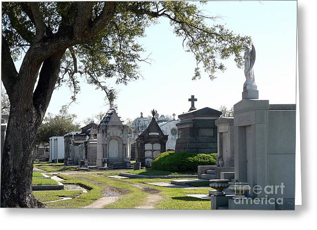 New Orleans Cemetery 3 Greeting Card by Elizabeth Fontaine-Barr
