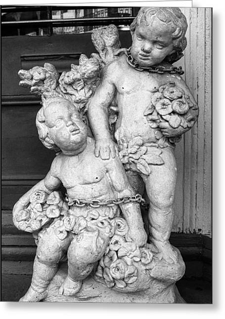 New Orleans Chained Cherubs Greeting Card by J Michael Whitaker