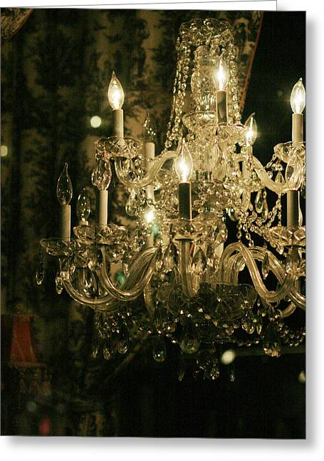 New Orleans Chandelier Greeting Card by Heather Green
