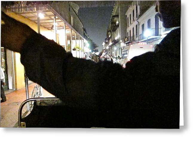 New Orleans - City At Night - 121211 Greeting Card