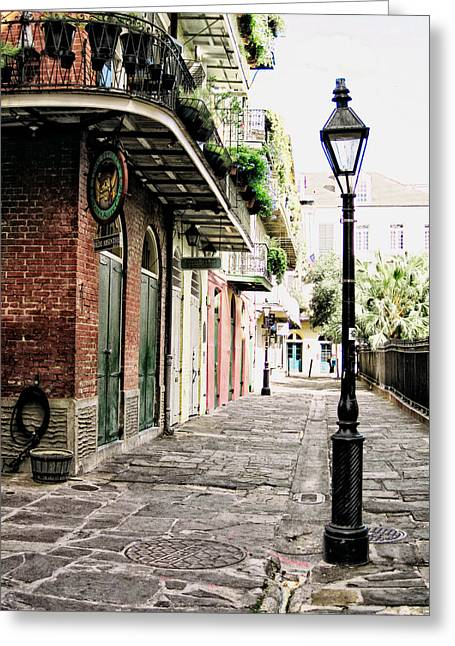 Greeting Card featuring the photograph New Orleans Cobblestone by Heather Green