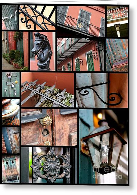 New Orleans Collage 2 Greeting Card by Carol Groenen