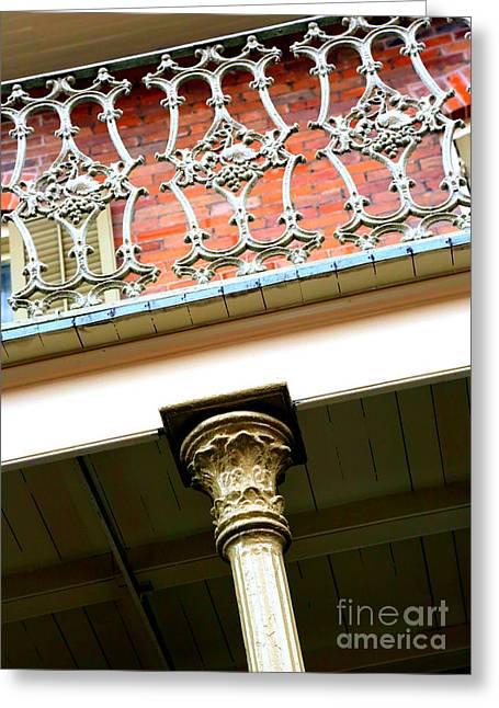 New Orleans Column Greeting Card by Carol Groenen