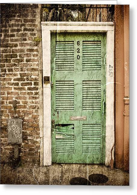 New Orleans Doorway Greeting Card by Ray Devlin