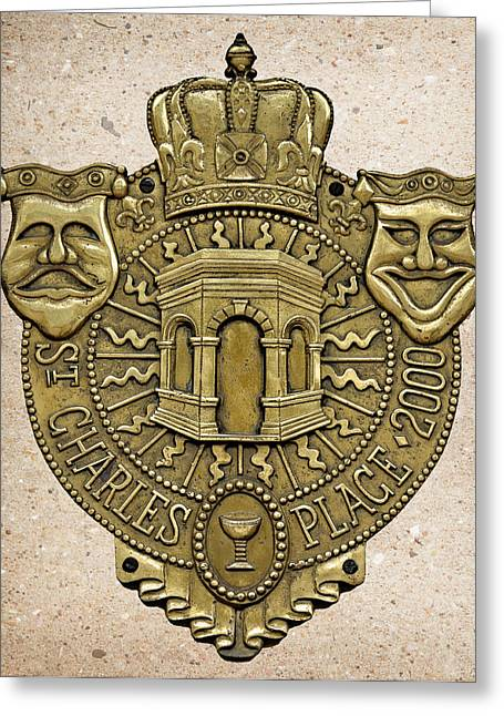 New Orleans Drama Faces Greeting Card by Christine Till