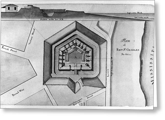 New Orleans: Fort, 1814 Greeting Card by Granger
