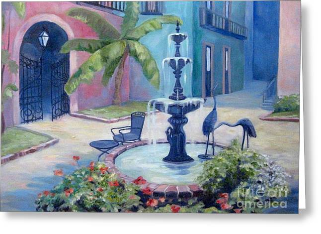 New Orleans Fountain 2 Greeting Card