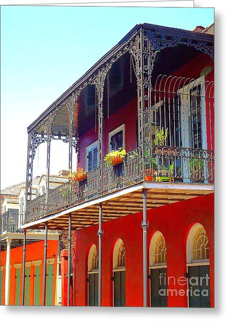 New Orleans French Quarter Architecture 2 Greeting Card by Saundra Myles
