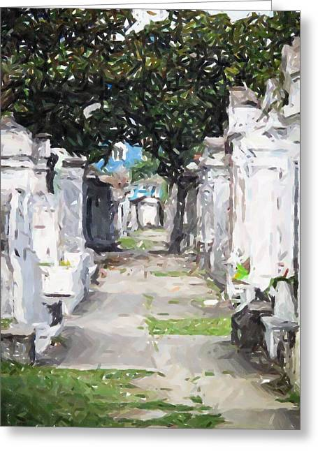 New Orleans French Quarter Cemetary Louisiana Artwork Greeting Card by Olde Time  Mercantile