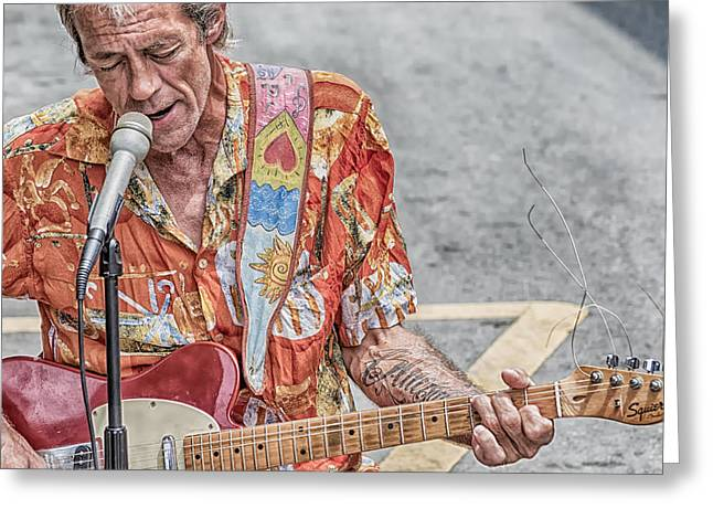 New Orleans Guitar Man Greeting Card