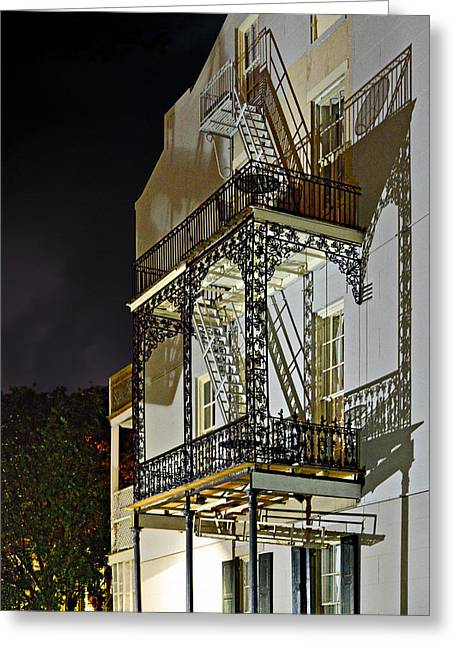 New Orleans Hot Summer Night Greeting Card