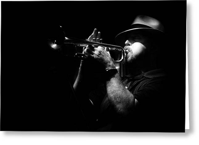 New Orleans Jazz Greeting Card by Brenda Bryant
