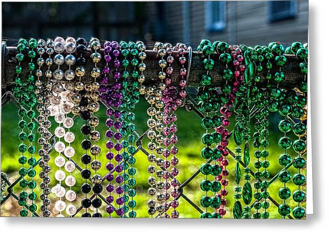 New Orleans Mardi Gra Beads No. 2 Greeting Card