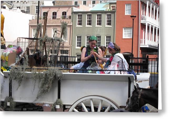 New Orleans - Mardi Gras Parades - 1212145 Greeting Card