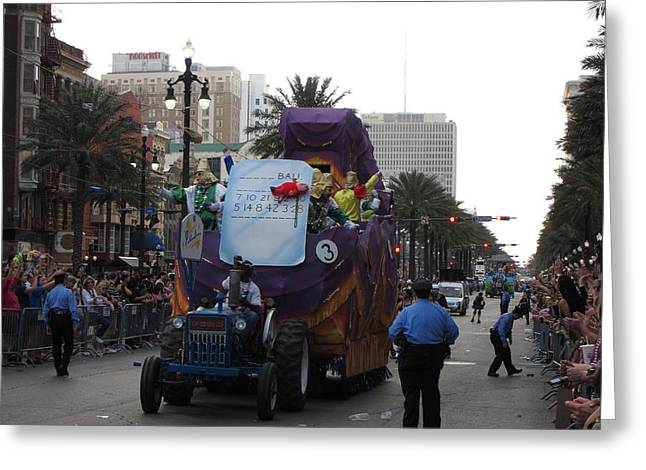 New Orleans - Mardi Gras Parades - 121226 Greeting Card by DC Photographer