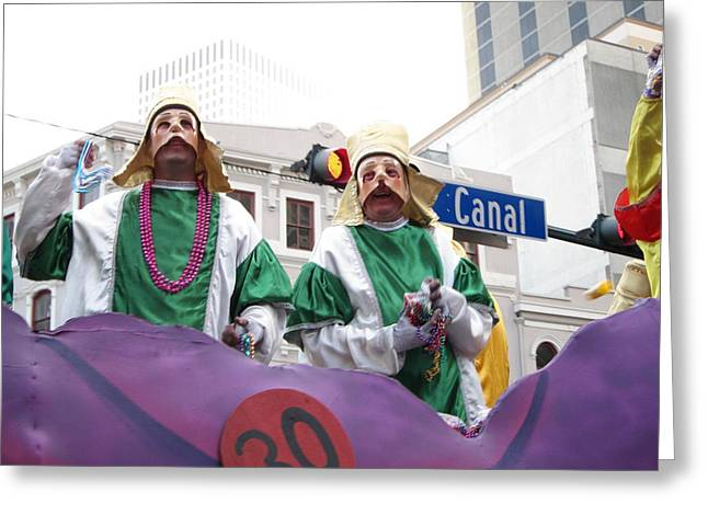 New Orleans - Mardi Gras Parades - 121230 Greeting Card by DC Photographer