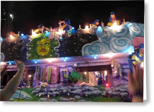 New Orleans - Mardi Gras Parades - 121246 Greeting Card by DC Photographer