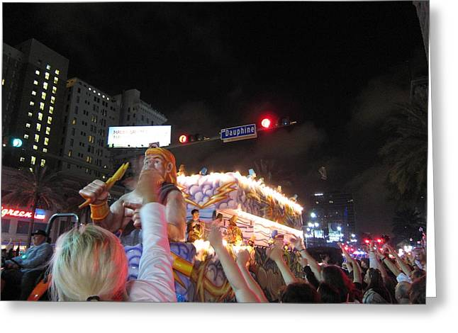 New Orleans - Mardi Gras Parades - 121249 Greeting Card