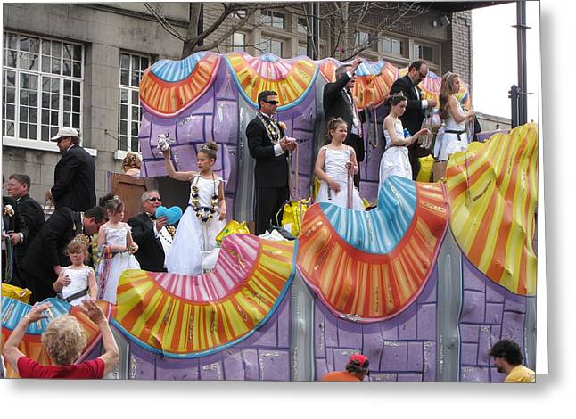 New Orleans - Mardi Gras Parades - 121266 Greeting Card by DC Photographer