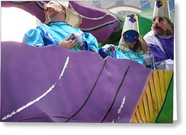 New Orleans - Mardi Gras Parades - 12127 Greeting Card by DC Photographer