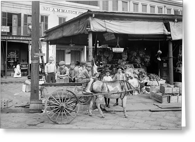 New Orleans Market, C1905 Greeting Card by Granger