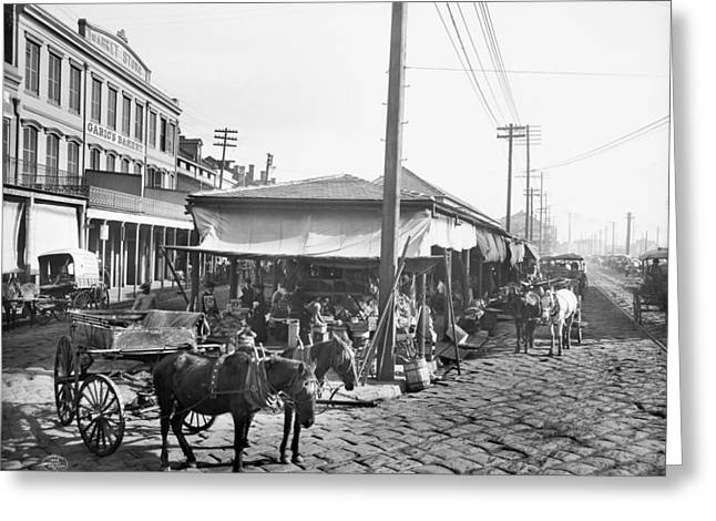 New Orleans Market, C1906 Greeting Card by Granger