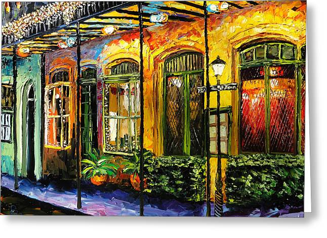 New Orleans Original Painting Greeting Card by Beata Sasik