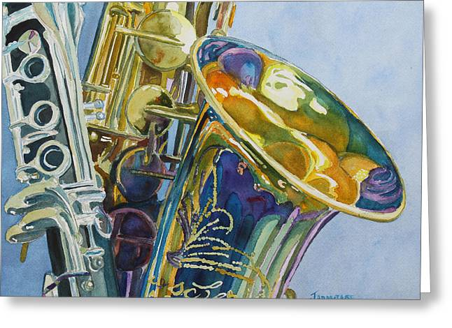 New Orleans Reeds Greeting Card by Jenny Armitage