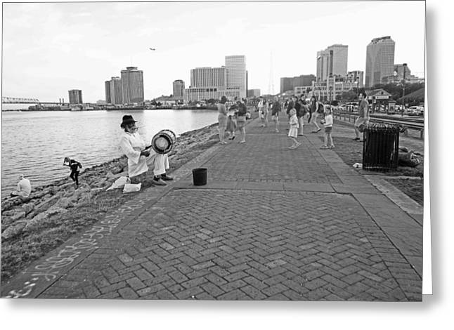 New Orleans Riverwalk Greeting Card